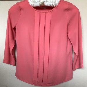 LOFT coral blouse